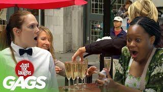Beer, Wine \u0026 Champagne Pranks | Just for Laughs Compilation