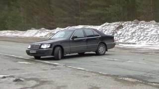 Покатушки на Мерседес W140 3,5 ТД ,воет мост.