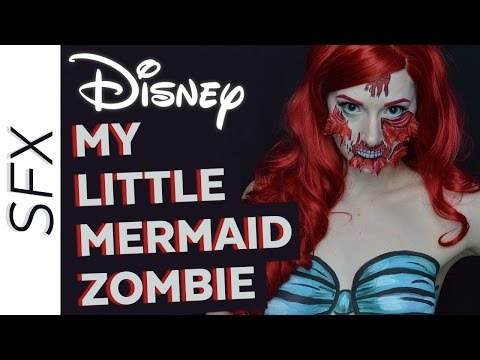 Zombies of Disney The Little Mermaid Ariel - Makeup Tutorial Trailer - 동영상