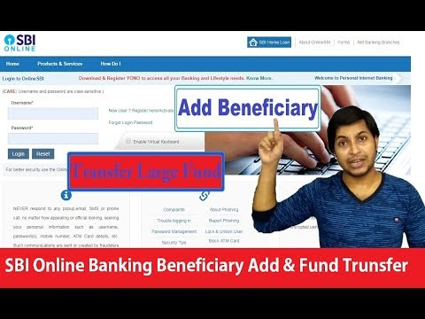 How To Add Beneficiary To SBI Online Banking | How To Transfer Large Fund | How Can I Help U (Hindi)