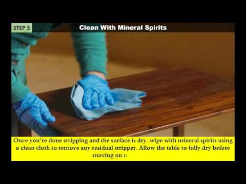 DIY How to Refinish Wood Furniture