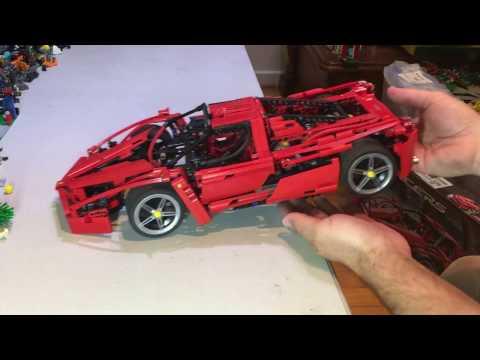 Lego Review on a vintage set 8653 Racers Enzo Ferrari 1:10.