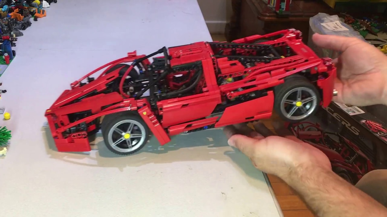 Lego Review On A Vintage Set 8653 Racers Enzo Ferrari 110 Youtube