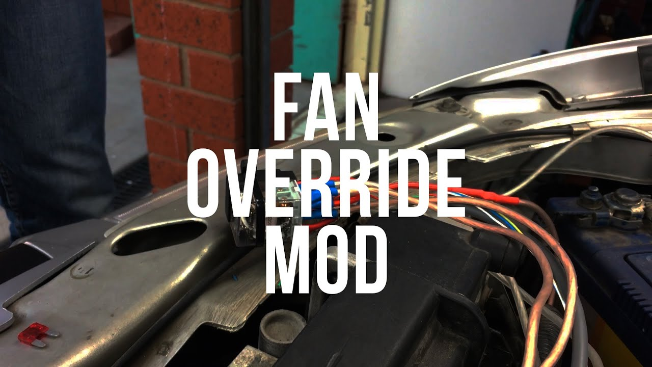 hight resolution of high speed engine fan override mod