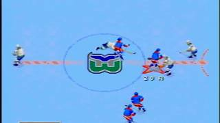 [Genesis] NHL '97 - Season: NY Rangers VS Hartford Whalers (Match 001), October, 7