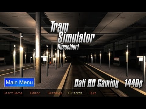 Tram Simulator Dusseldorf (full route) PC Gameplay FullHD 1440p