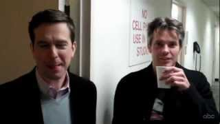 ed helms and timothy olyphant talking about office and future films