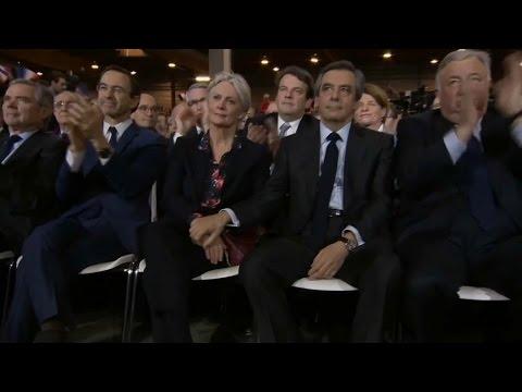 Meeting à Paris: François Fillon met en scène son épouse et son couple