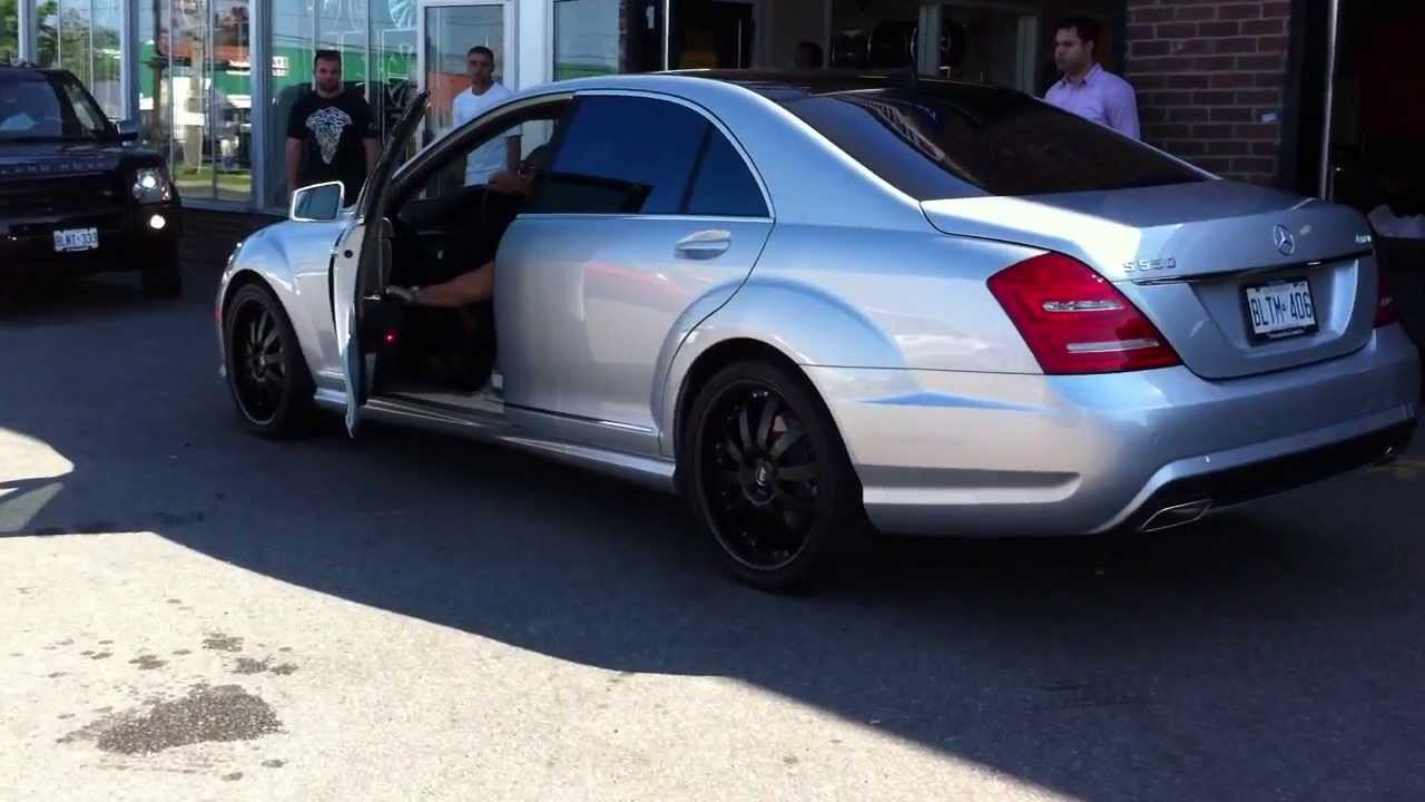 S550 on 20 matte black wheels done by factory tire for Mercedes benz flat tire