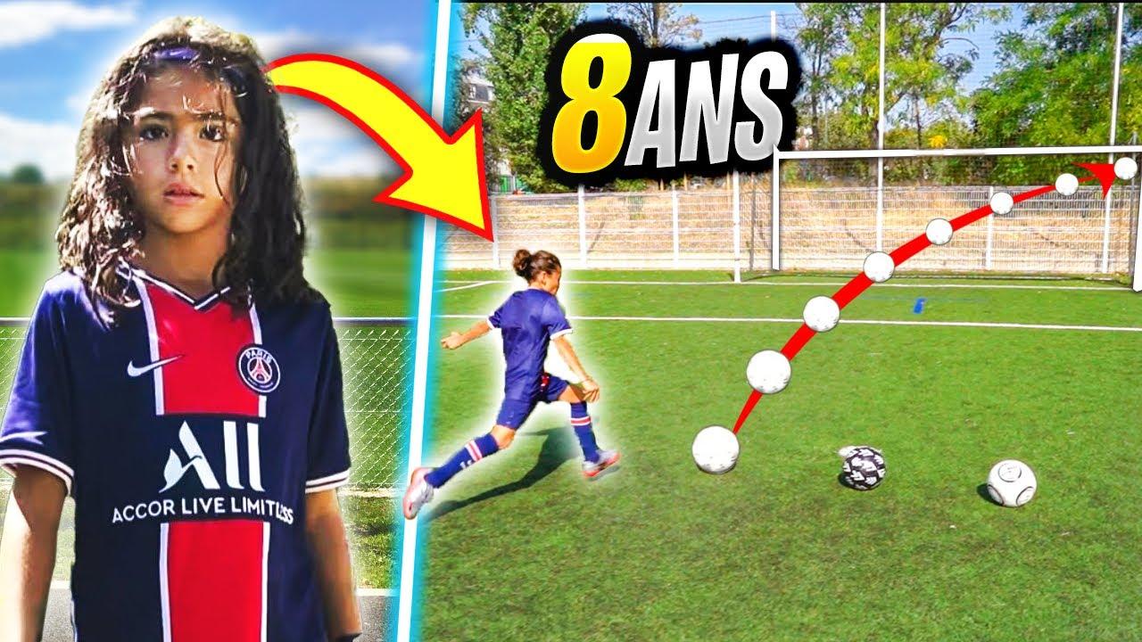 CET ENFANT DE 8 ANS A UNE PRÉCISION INCROYABLE AU FOOTBALL!