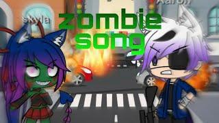 Zombie song//gacha life music video//