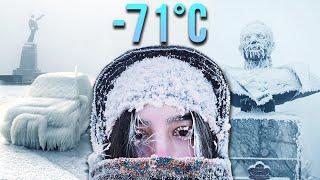 DÜNYANIN EN SOĞUK ŞEHRİNDE '1 SAAT YÜRÜMEK' (-71°C, YAKUTSK)
