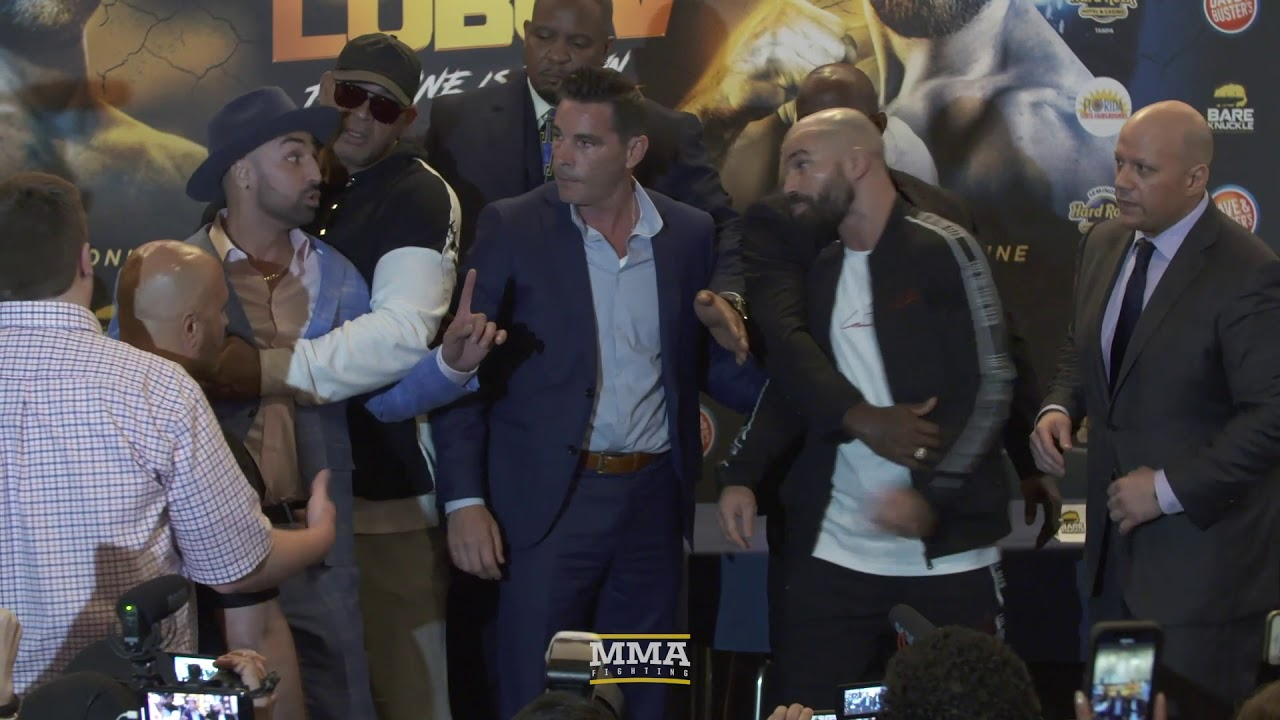 Paulie Malignaggi Spits on Artem Lobov at BKFC 6 Press Conference - MMA Fighting