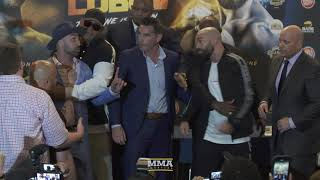 Paulie Malignaggi Spits on Artem Lobov at BKFC 6 Press Conference - MMA Fighting