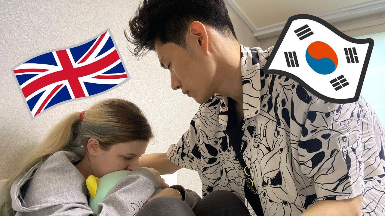 BAD PERIOD CRAMPS PRANK To See How My Korean Boyfriend Reacts   AMWF International Couple   국제 커플