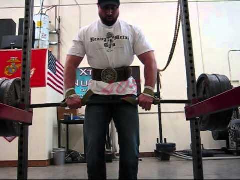 Heavy Metal Gym Alaska... W.O.W Strap test