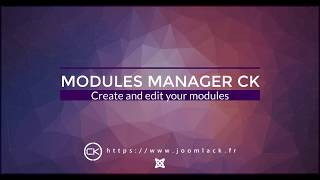 Module Manager CK for Joomla