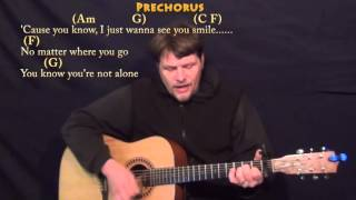 One Call Away (Charlie Puth) Guitar Cover Lesson with Chords/Lyrics - Capo 1st