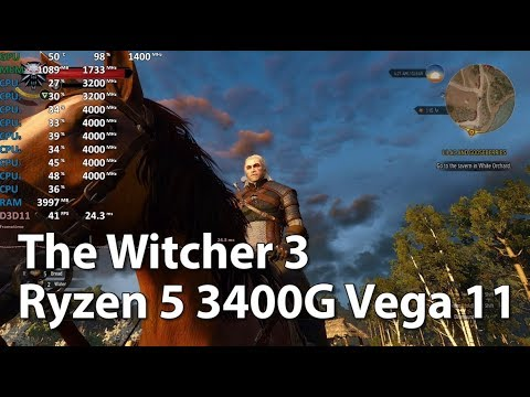 AMD Ryzen 5 3400G Review - The Witcher 3: Wild Hunt
