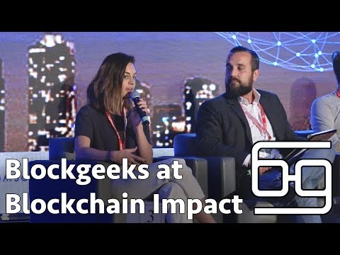 Blockgeeks at Blockchain Impact Summit