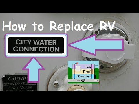 rv water hookup replacement