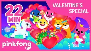 I Love You and more | Valentine's Day Playlist | +Compilation | Pinkfong Songs for Family
