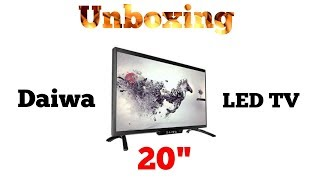 "Daiwa 20"" Led TV unboxing"