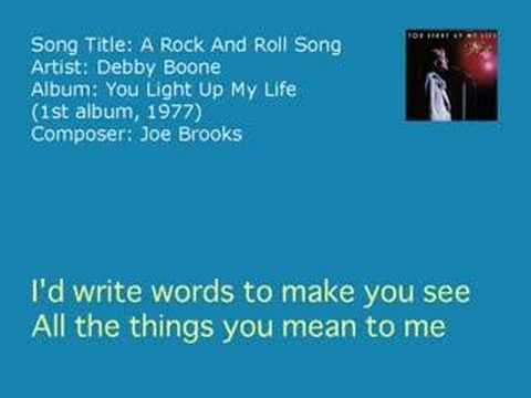 Debby Boone - A Rock And Roll Song (Audio)