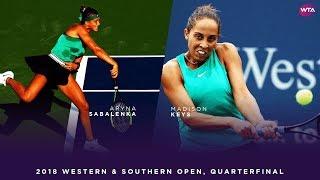 Aryna Sabalenka vs. Madison Keys | Western & Southern Open Quarterfinals | WTA Highlights