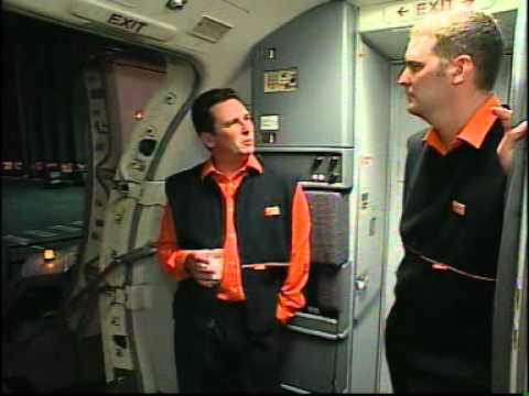 easyJet Cabin Crew Training - boarding bad... - YouTube
