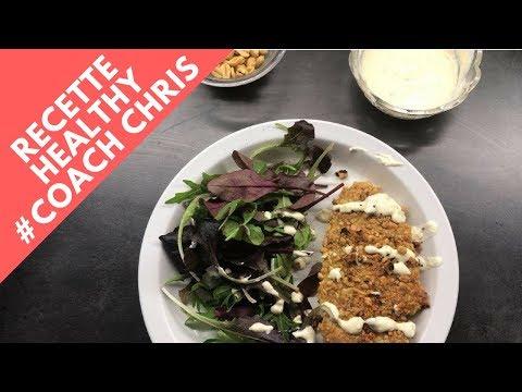 recette-healthy-poulet-pané-à-la-cacahuète-et-sa-sauce-bechamel