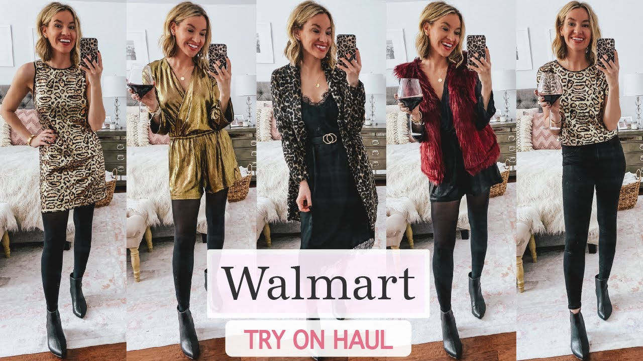 Walmart Try On Haul New Years Eve Outfit Ideas 2019 Youtube