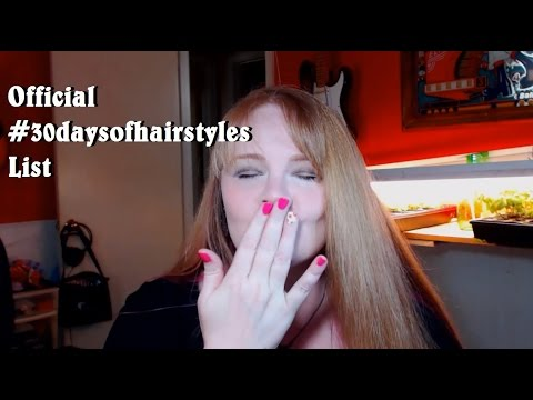 Official #30daysofhairstyles List