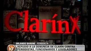 Visión 7: Repudian la denuncia de Clarín contra periodistas, funcionarios y agrupaciones