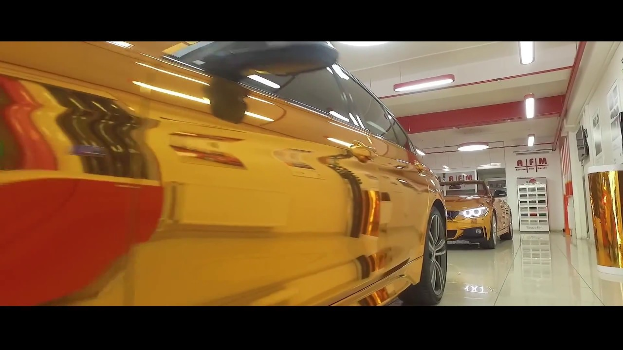 Gold Chrome Kaplama Bmw F30 4 Series Cabrio Amerikan Film Merkezi