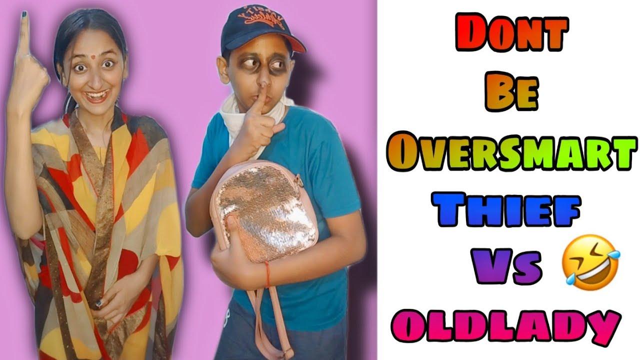 Don't Be Oversmart Thief Vs Old Lady #funnyshorts #ytshorts #shorts