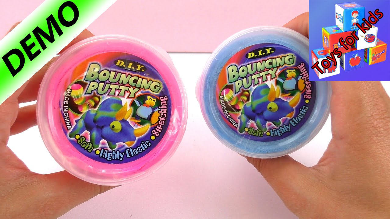 Bouncing Putty In Two Different Colors Is This Silk Clay Is It