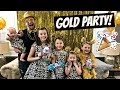 HUGE FAMILY GOLD PARTY! THE WEISS GIRLS!