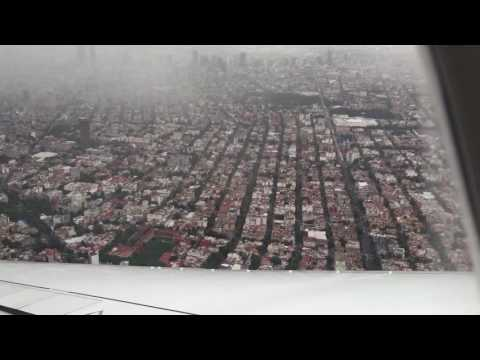 Lufthansa 747-8 Purser sings after landing at Mexico City Airport