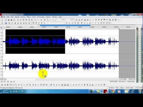 1شرح برنامج Sound Forge الجزء الأول