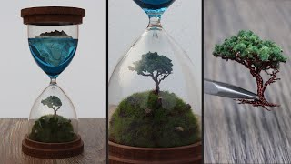 How to Make Hourglass Diorama | Resin Art | Wire Tree