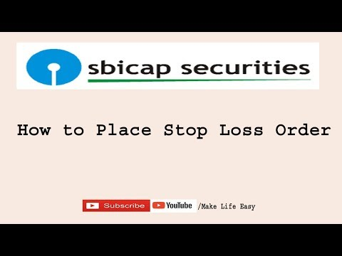 How To Place Stop Loss Order In SBI Smart