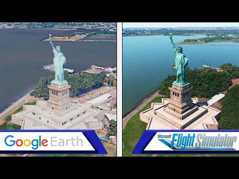flight-simulator-vs-google-earth-|-graphics-comparison