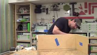 Building Kitchen Cabinets Part 19.  Wall Cabinet Construction