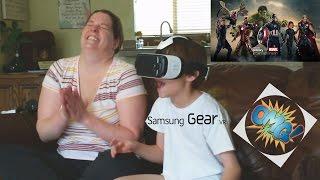 Joshua & Mom Battle for Avengers Tower on the Samsung Gear VR reaction video