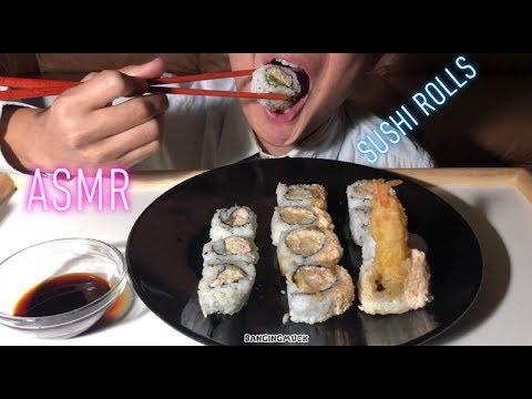 asmr-california-roll-shrimp-crunch-roll-sushi-(eating-sounds-no-talking)-|-bangingmuck