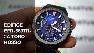7aaa23ad48b Casio EDIFICE EFR-563TR-2A Toro Rosso LIMITED 4K VIDEO