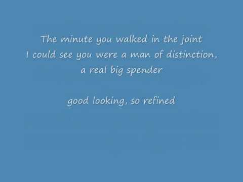 Shirley Bassey Big Spender (with Lyrics on screen) - YouTube