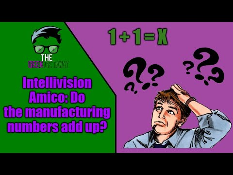 Intellivision Amico: Do the manufacturing numbers add up?