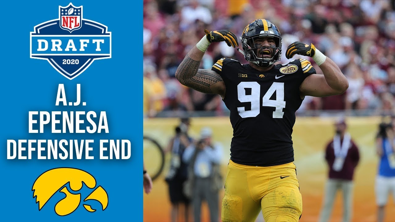 A J  Epenesa |  Defensive End | Iowa | 2020 NFL Draft Profile